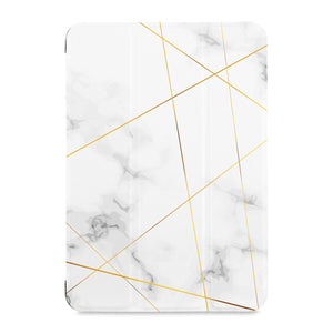 the front view of Personalized Samsung Galaxy Tab Case with Marble 2020 design