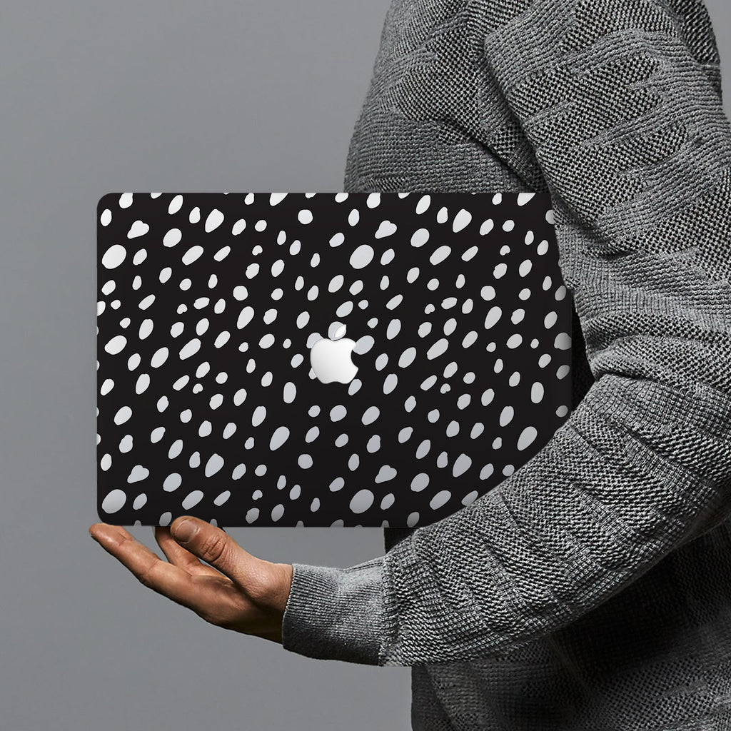hardshell case with Polka Dot design combines a sleek hardshell design with vibrant colors for stylish protection against scratches, dents, and bumps for your Macbook