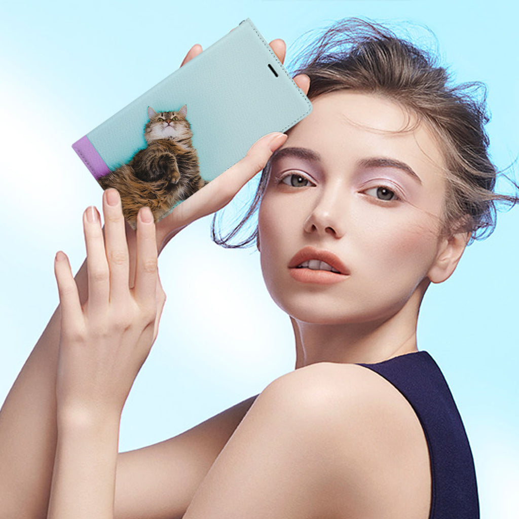 Personalized iPhone Wallet Case with Cat desig marries a wallet with an Samsung case, combining two of your must-have items into one brilliant design Wallet Case.