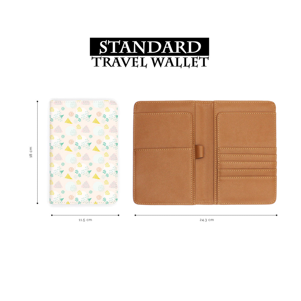standard size of personalized RFID blocking passport travel wallet with Abstract Patterns design