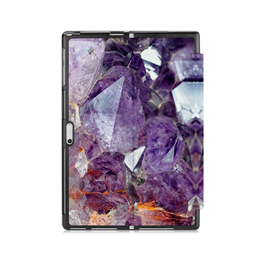 the back side of Personalized Microsoft Surface Pro and Go Case with Crystal Diamond design