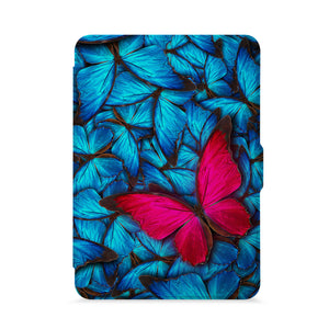 front view of personalized kindle paperwhite case with Butterfly design - swap