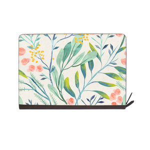 front view of personalized Macbook carry bag case with Pink Flower design