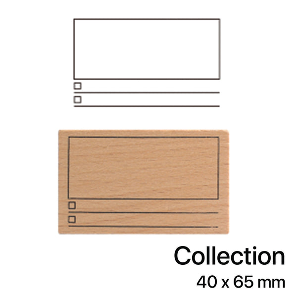 Wooden Rubber Stamp - Collection