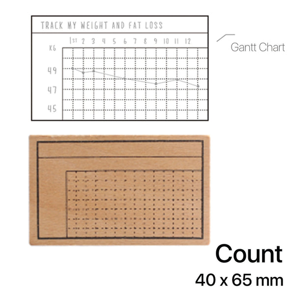 Wooden Rubber Stamp - Count