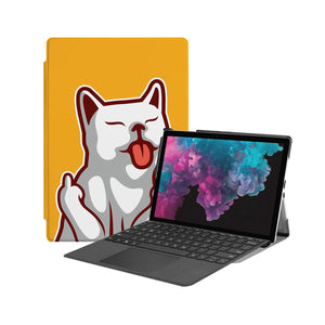 the Hero Image of Personalized Microsoft Surface Pro and Go Case with Cat Fun design