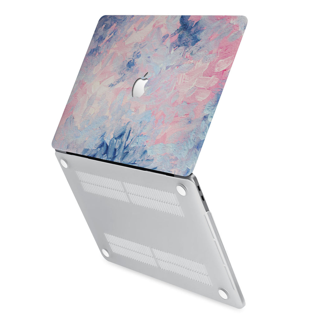 hardshell case with Oil Painting Abstract design has rubberized feet that keeps your MacBook from sliding on smooth surfaces