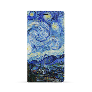 Front Side of Personalized iPhone Wallet Case with Oil Painting design