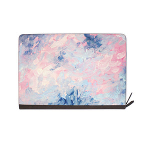 front view of personalized Macbook carry bag case with Oil Painting Abstract design