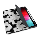personalized iPad case with pencil holder and Animal Skin design