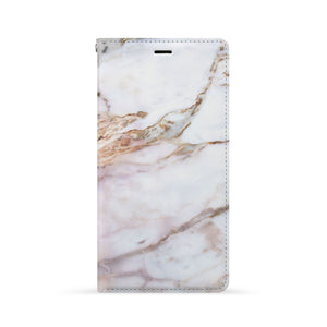 Front Side of Personalized iPhone Wallet Case with Marble 2 design