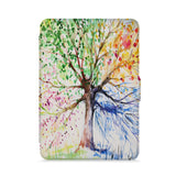 front view of personalized kindle paperwhite case with Watercolor Flower design - swap