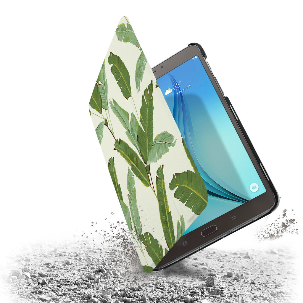 the drop protection feature of Personalized Samsung Galaxy Tab Case with Green Leaves design