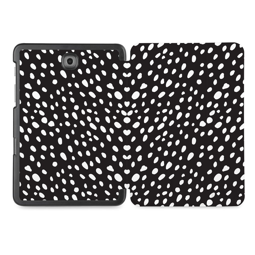 the whole printed area of Personalized Samsung Galaxy Tab Case with Polka Dot design