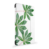 the side view of Personalized Samsung Galaxy Tab Case with Flat Flower design
