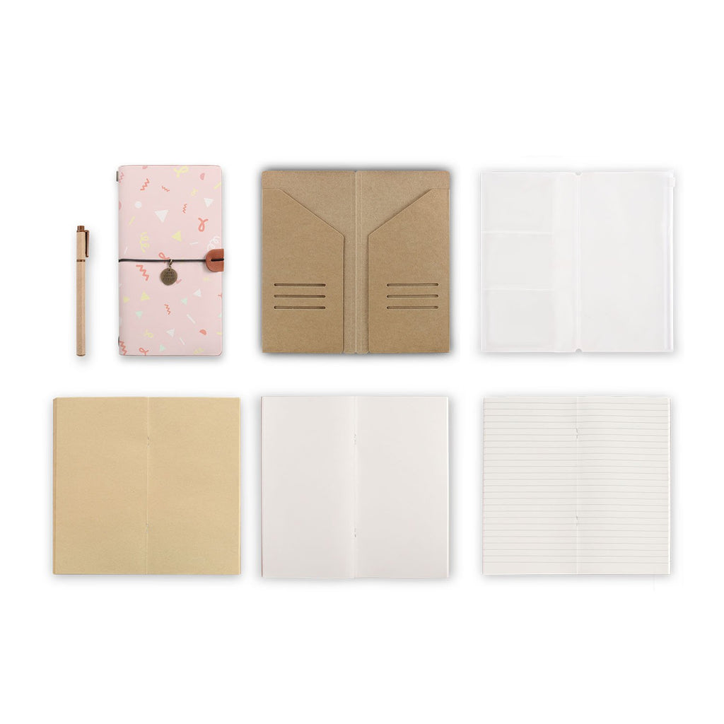 midori style traveler's notebook with Baby design, refills and accessories