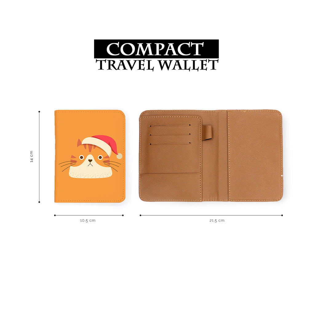 compact size of personalized RFID blocking passport travel wallet with Cute Cat design