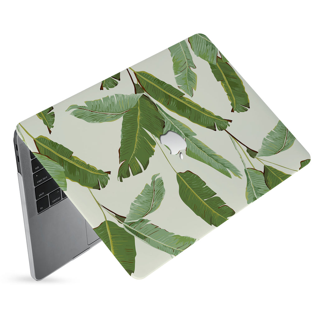 hardshell case with Green Leaves design has matte finish resists scratches