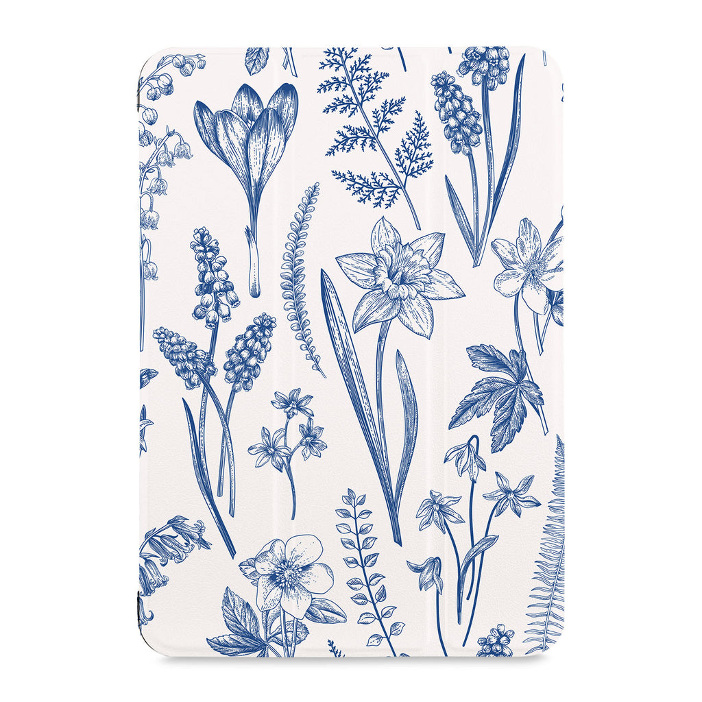 the front view of Personalized Samsung Galaxy Tab Case with Flower design