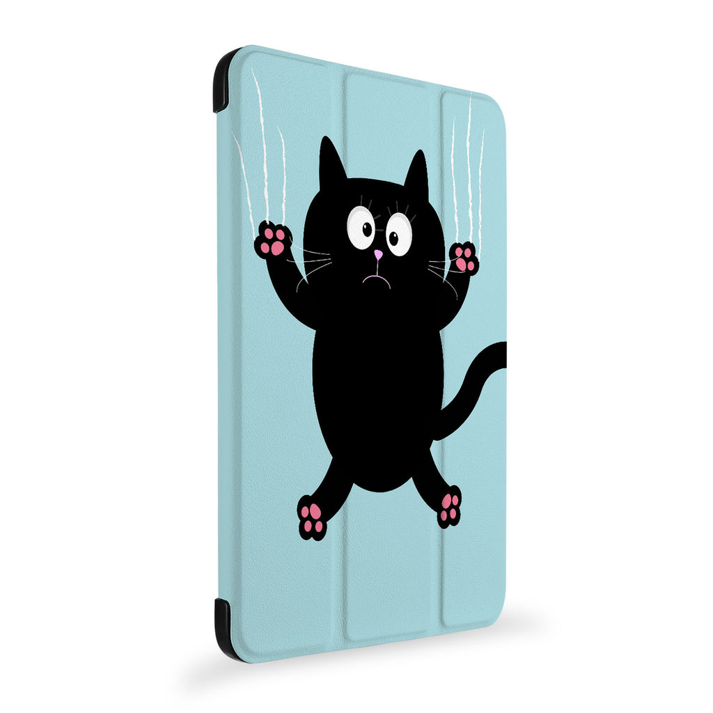 the side view of Personalized Samsung Galaxy Tab Case with Cat Kitty design