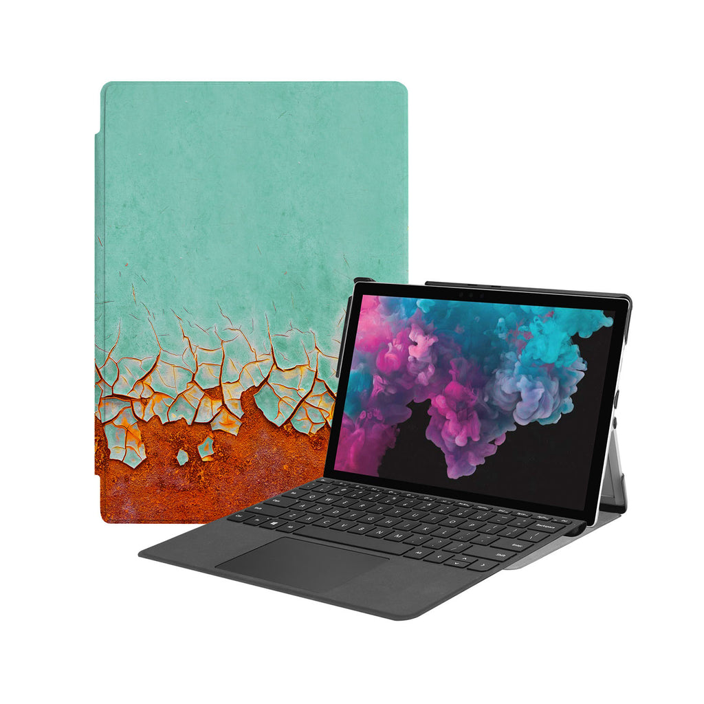 the Hero Image of Personalized Microsoft Surface Pro and Go Case with Rusted Metal design