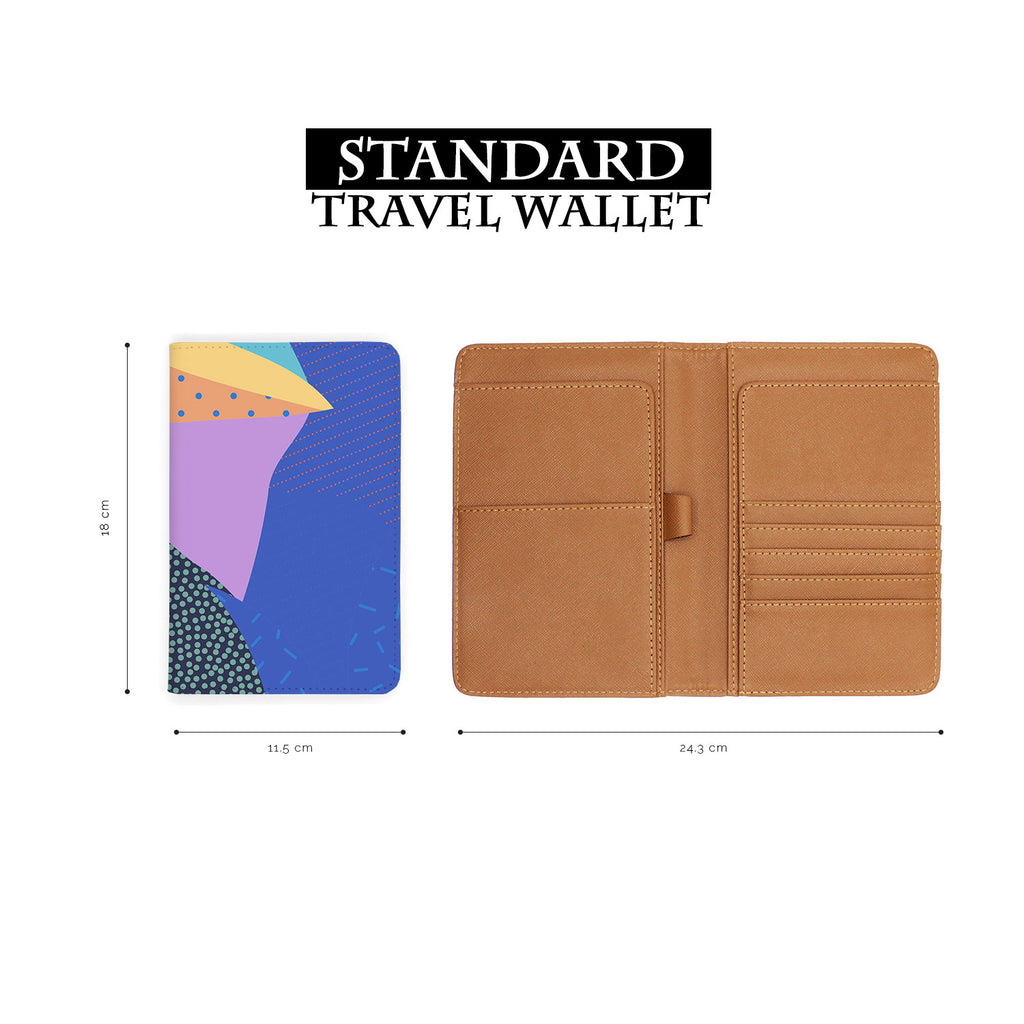 standard size of personalized RFID blocking passport travel wallet with Blossom design