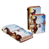 three size of midori style traveler's notebooks with Horse design