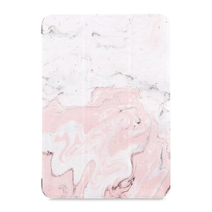 the front view of Personalized Samsung Galaxy Tab Case with Pink Marble design