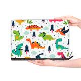 macbook air inside of personalized Macbook carry bag case with Dinosaur design