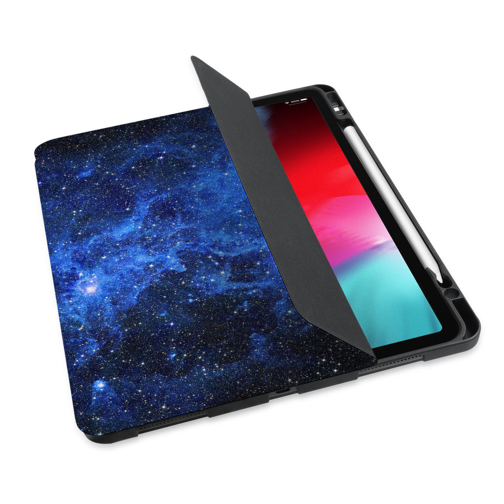 personalized iPad case with pencil holder and Starry Night design