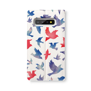 Back Side of Personalized Samsung Galaxy Wallet Case with Bird design - swap