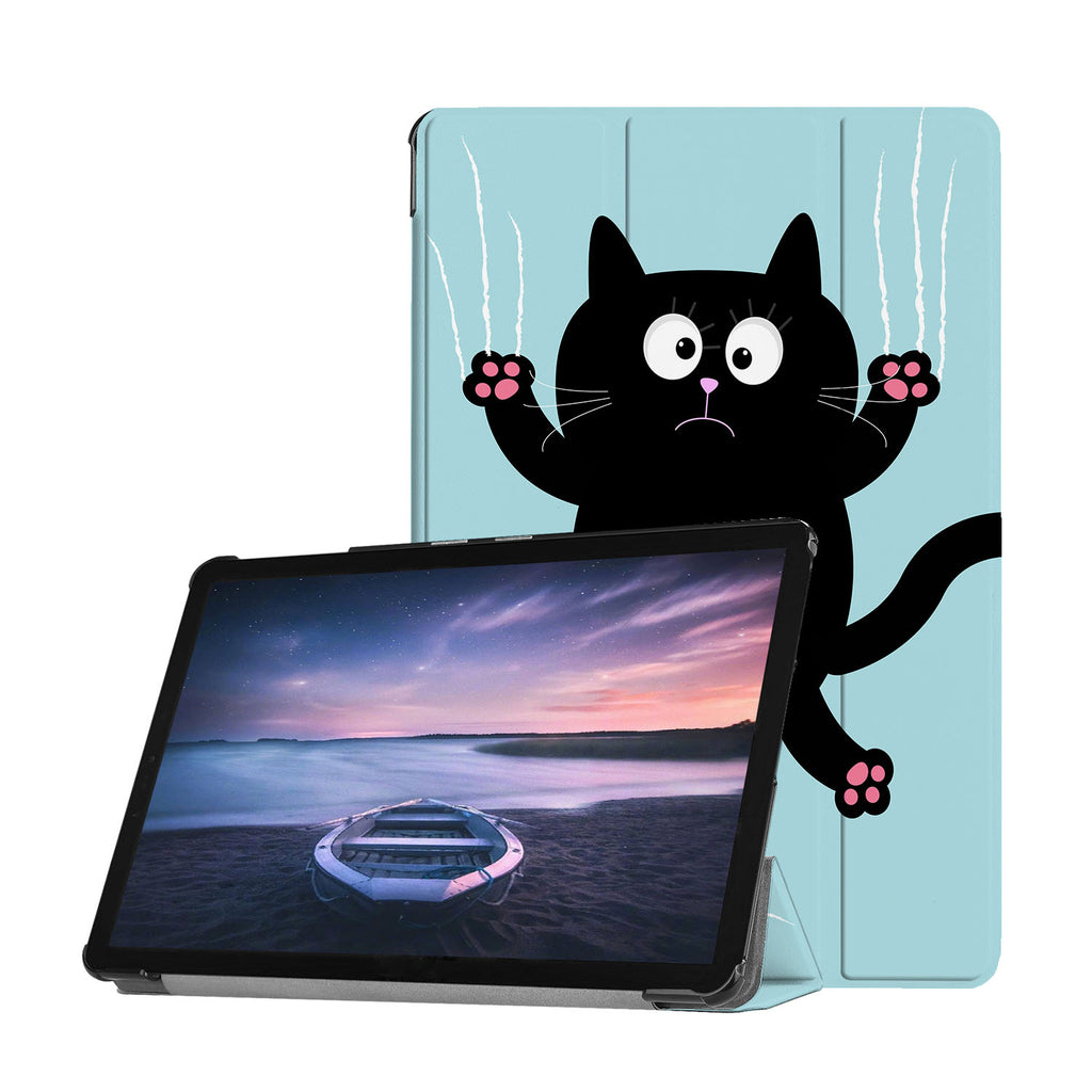 Personalized Samsung Galaxy Tab Case with Cat Kitty design provides screen protection during transit