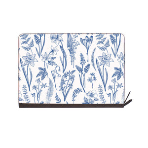 front view of personalized Macbook carry bag case with Flower design
