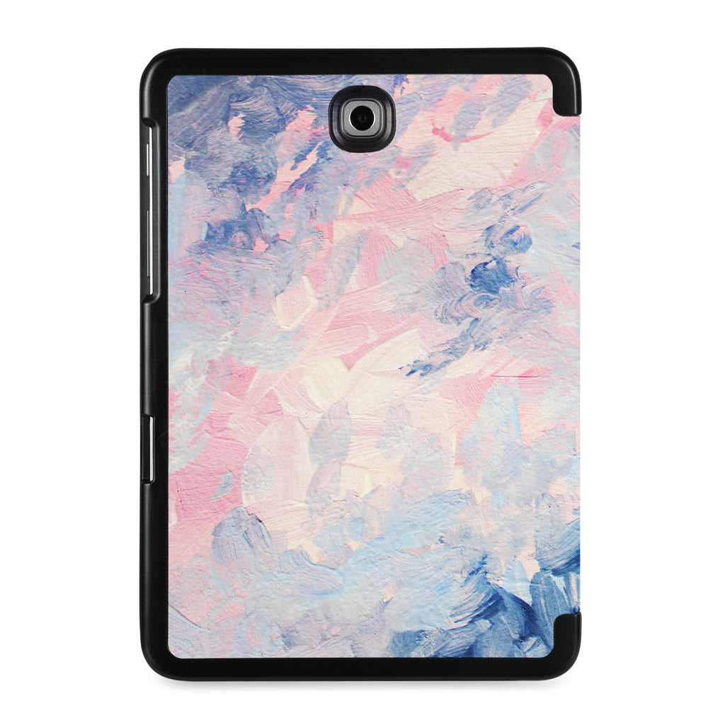 the back view of Personalized Samsung Galaxy Tab Case with Oil Painting Abstract design