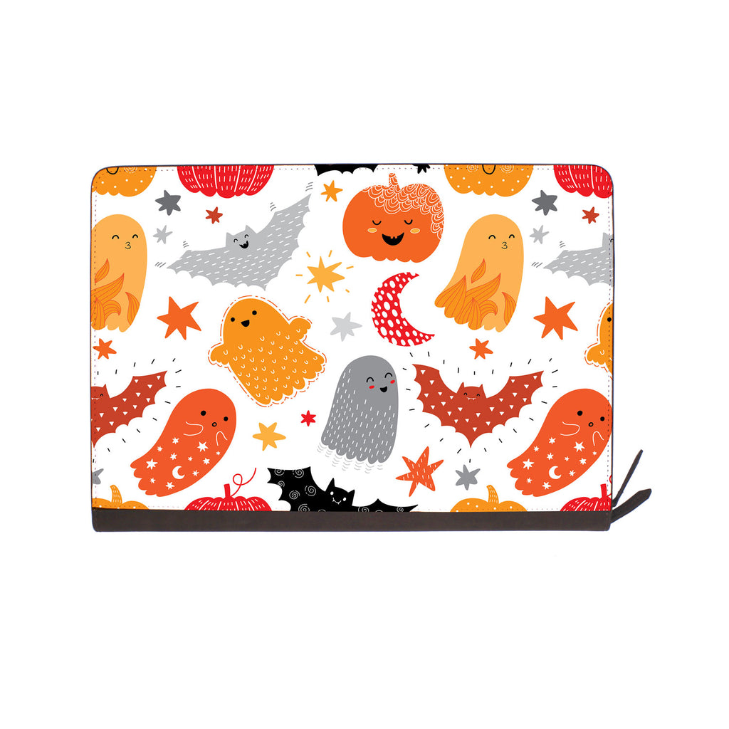 front view of personalized Macbook carry bag case with Halloween design
