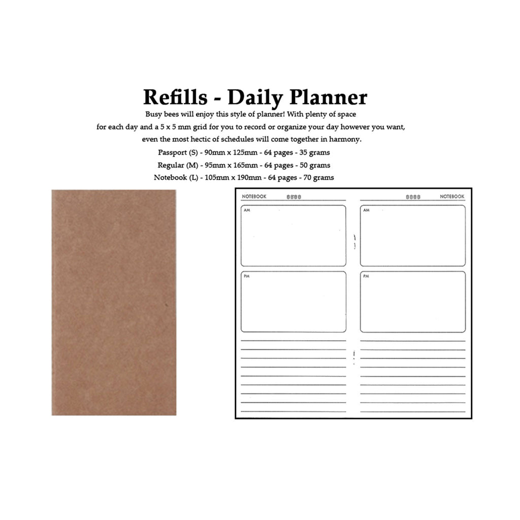 Traveler's Notebook Refill - Daily Planner