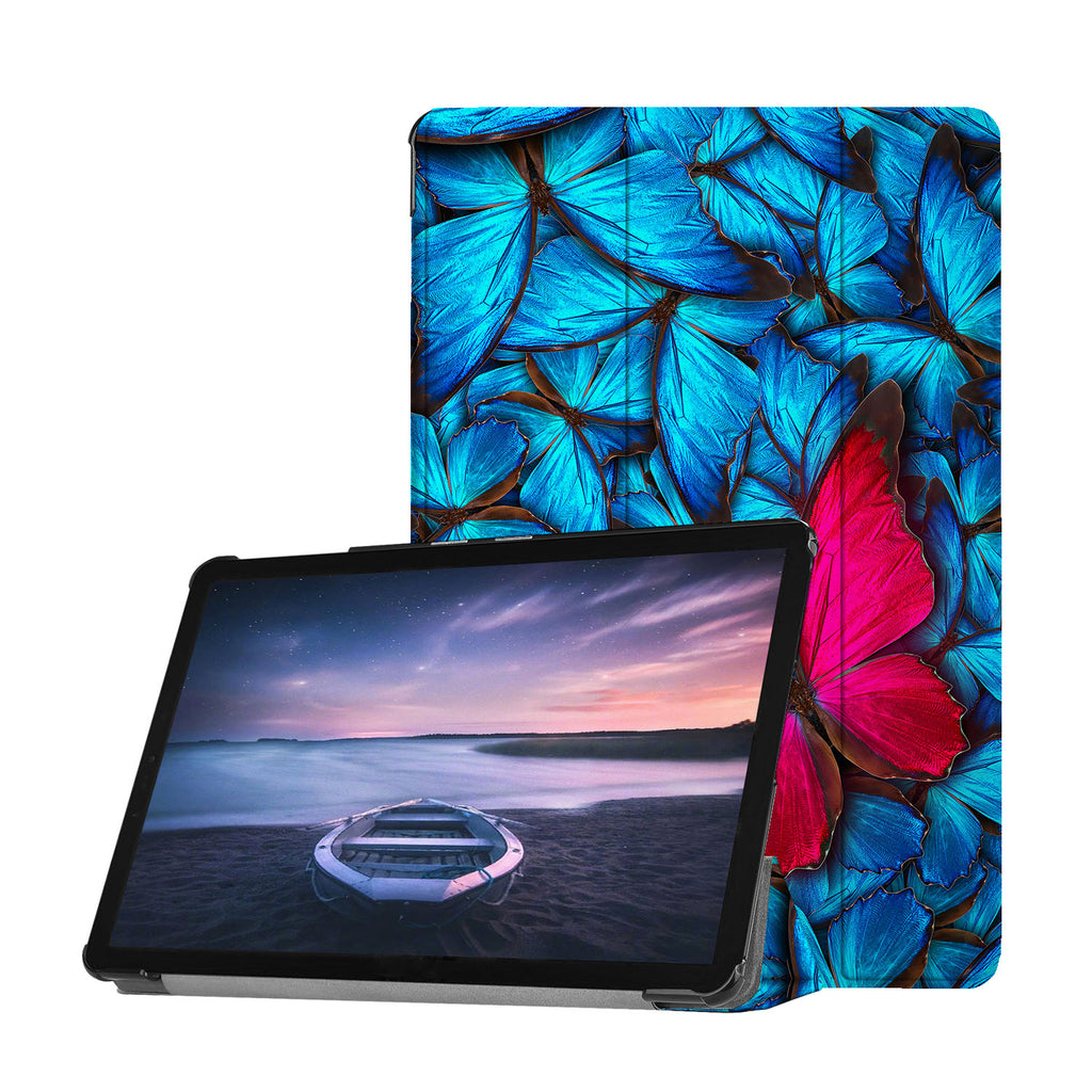 Personalized Samsung Galaxy Tab Case with Butterfly design provides screen protection during transit