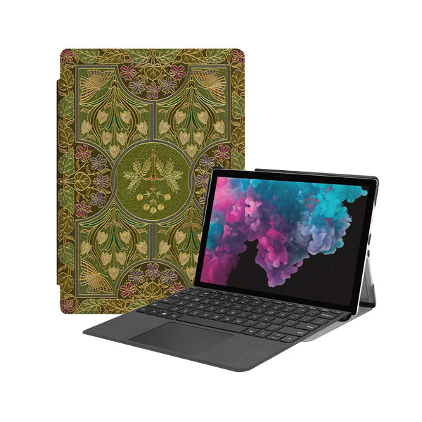 the Hero Image of Personalized Microsoft Surface Pro and Go Case with Vintage Book design