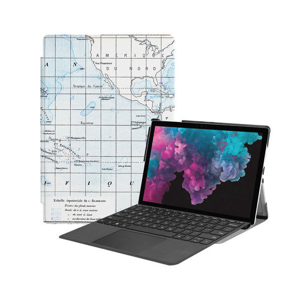 the Hero Image of Personalized Microsoft Surface Pro and Go Case with Vintage design