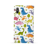 Back Side of Personalized Huawei Wallet Case with Dinosaur design - swap