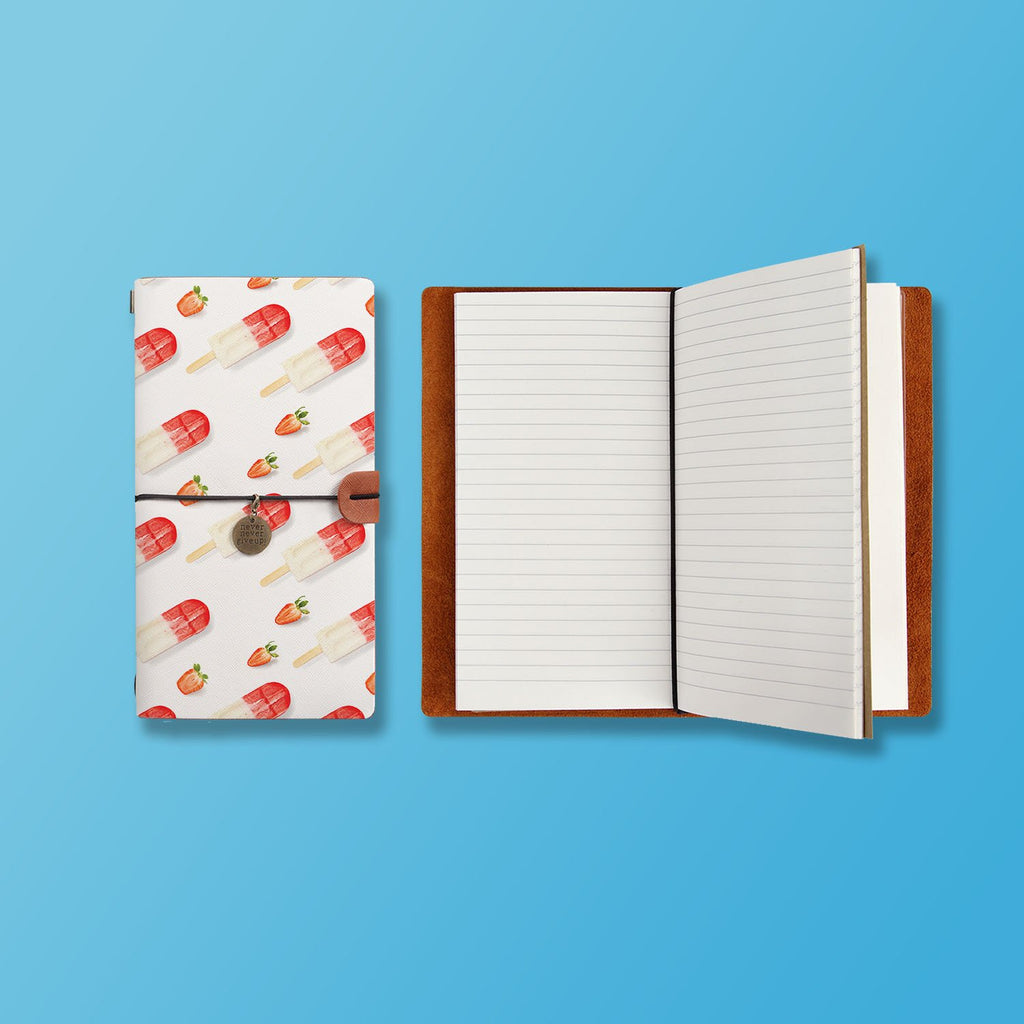 the front top view of midori style traveler's notebook with Sweet design