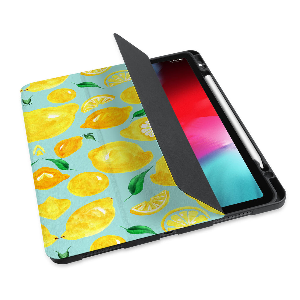personalized iPad case with pencil holder and Fruit design - swap