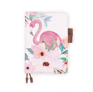 the front view of papermarker's diary with Flamingo pattern