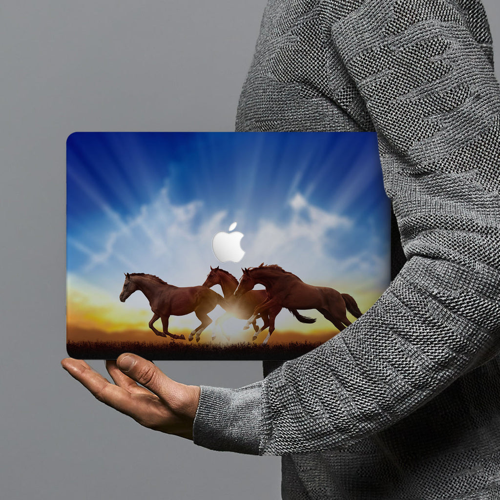 hardshell case with Horse design combines a sleek hardshell design with vibrant colors for stylish protection against scratches, dents, and bumps for your Macbook