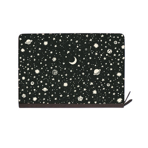 front view of personalized Macbook carry bag case with Space design