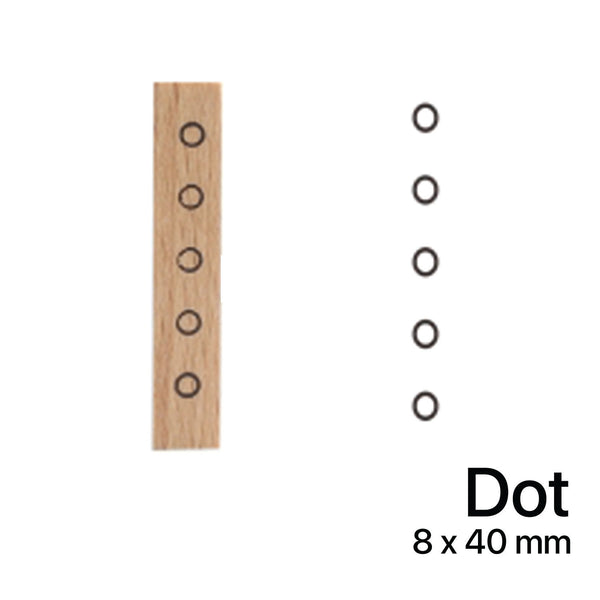 Wooden Rubber Stamp - Dot