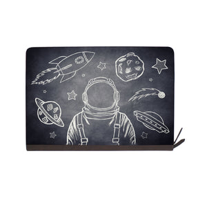 front view of personalized Macbook carry bag case with Astronaut Space design