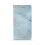 Front Side of Personalized iPhone Wallet Case with Marble Gold design