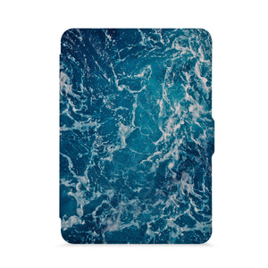 front view of personalized kindle paperwhite case with Ocean design - swap