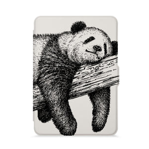 front view of personalized kindle paperwhite case with Cute Animal design - swap